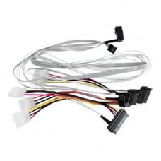 Adaptec ACK-I-RA-HDMSAS-4SAS-SB-0.8M (2279600-R) Кабель SAS внутр., 80см., разъемы SFF8643(угловой) -to- 4*SAS(прямой)+SideBand