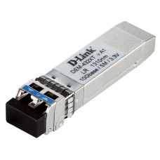 D-Link 432XT/B1A, SFP+ Transceiver with 1 10GBase-LR port.Up to 10km, single-mode Fiber, Duplex LC connector, Transmitting and Receiving wavelength: 1310nm, 3.3V power.