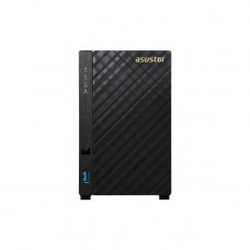 ASUSTOR AS1002T / V2 / 2-Bay NAS/CPU (2Core)/512MBDDR3/noHDD,LFF(HDD,SSD)/1x1GbE(LAN)/2xUSB3.0/4ip camera license ; 90IX00L1-BW3S20