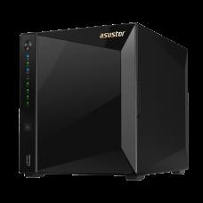 ASUSTOR AS4004T 4-Bay NAS/CPU (2Core)/2Gb/noHDD,LFF(HDD,SSD)/1x1GbE(LAN)/2xUSB3.1 ; 90IX0161-BW3S10 - AS4004T
