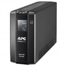 APC Back-UPS Pro BR 650VA/390W, 6xC13 Outlets(6 batt.), AVR, LCD, Data/DSL protrct, 10/100 Base-T, USB, PCh, user repl. batt., 2 y warr. - BR650MI