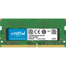 Crucial by Micron  DDR4   4GB 2666MHz SODIMM  (PC4-21300) CL15 SRx8 1.2V (Retail) [CT4G4SFS8266]