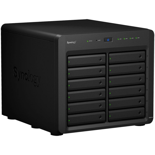 """Synology DS2419+  QC 2.1GHz CPU/4GB(up to 32GB)/RAID 0,1,5,6,10/up to 12 SATA SSD/HDD (3.5"""" or 2.5"""") (up to 24 woth 1xDX1215), 2xUSB3.0, 4xGbE(+1Expslot),iSCSI, 2xIPcam(upto40)/1xPS/3YW"""