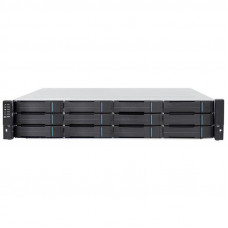 Infortrend EonStor GS 1000 2U/12x3.5, NAS, block, dual controller, 2x12Gb SAS EXP. Port, 8x1G iSCSI +2x host board slot(s), 4x4GB, 2x(PSU+FAN), 2x(SuperCap.+Flash), 1xRackmount kit(GS1012R2C0F0D-8732) - GS 1012R2CF-D