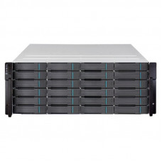 Infortrend EonStor GS 1000 2U/24x2.5, NAS, block, dual controller,2x12Gb SAS EXP. Port,8x1G iSCSI +2x host board slot(s),4x4GB,2x(PSU+FAN), 2x(SuperCap.+Flash),1xRackmount kit(GS1012R2C0F0D-8732) - GS 1024R2CBF-D