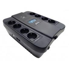 Powercom Spider SPD-550U, Line-Interactive, LCD, AVR, 550VA/330W, Schuko, black