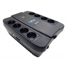 Powercom Spider SPD-750U, Line-Interactive, LCD, AVR, 750VA/450W, Schuko, black