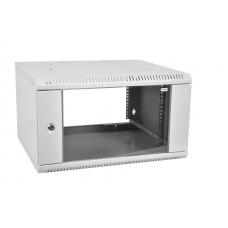 Шкаф телекоммуникационный настенный разборный 6U (600  650) дверь стекло