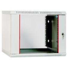 Шкаф телекоммуникационный настенный разборный 9U (600х520) дверь стекло