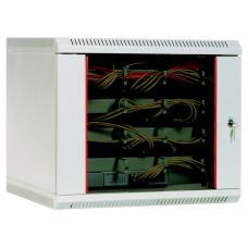 Шкаф телекоммуникационный настенный 9U (600х300) дверь стекло - ШРН-9.300