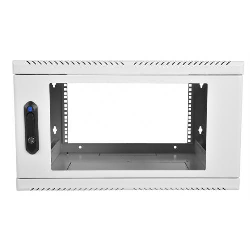 Шкаф телекоммуникационный настенный 9U, 600x500мм, В=500мм, дверь стекло - ШРН-9.480