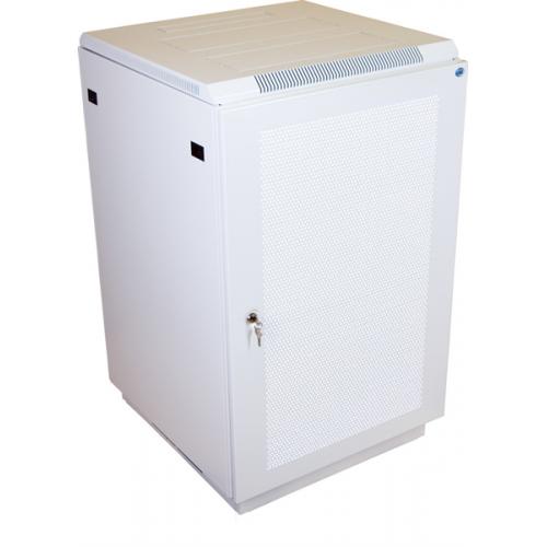 Шкаф телекоммуникационный напольный 22U (600x1000) дверь перфорированная (3 места)
