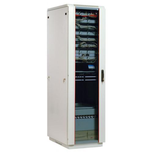 Шкаф телекоммуникационный напольный 27U (600x600) дверь стекло (2 места)
