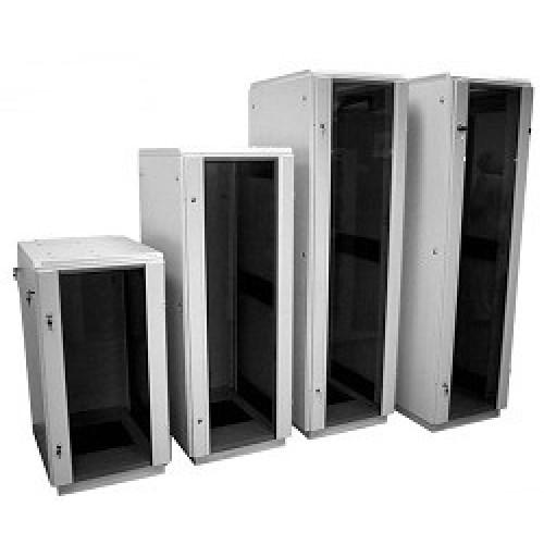 Шкаф телекоммуникационный напольный 42U (600x600) дверь стекло (3 места)