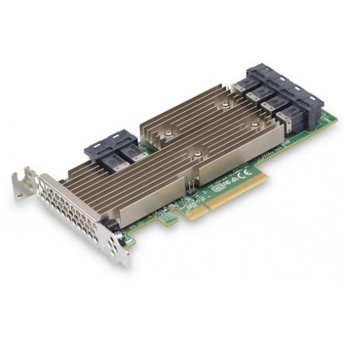 LSI HBA SAS9305-24i (PCI-E 3.0 x8, LP ) SAS/SATA 12G,  Non-RAID -до 1024, 24port (6*intSFF8643), каб. отдельно
