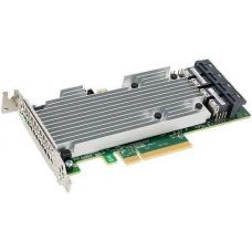 LSI MegaRAID SAS9361-16I (05-25708-00) (PCI-E 3.0 x8, LP), QIG, LP bracket, SGL SAS 12G, RAID 0,1,5,6,10, 50,60, 16port (4*intSFF8643), 2GB onboard, Каб.отдельно