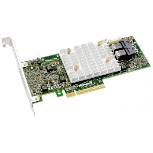 Microsemi Adaptec SmartRAID 3152-8I (PCI Express 3.0 x8, LP, MD2), SAS-3 12G, RAID 0,1,10,5,50,6,60, 8port(int2*SFF-8643), 2G
