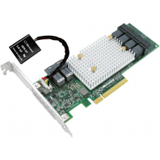 Microsemi Adaptec SmartRAID 3154-24I (PCI Express 3.0 x8, LP, MD2), SAS-3 12G, RAID 0,1,10,5,50,6,60, 24port(int6*SFF-8643), 4G