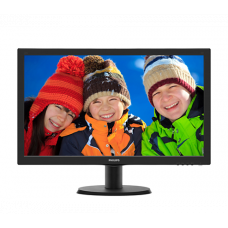 "23,6"" Philips 243V5QSBA 1920x1080 MVA LED 16:9 8ms VGA DVI 10M:1 178/178 250cd Black"