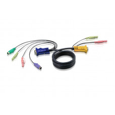 ATEN CABLE HD15M/MD6M/MD6M/SP/SP-SP; 1.8M*2L-5302P - 2L-5302P