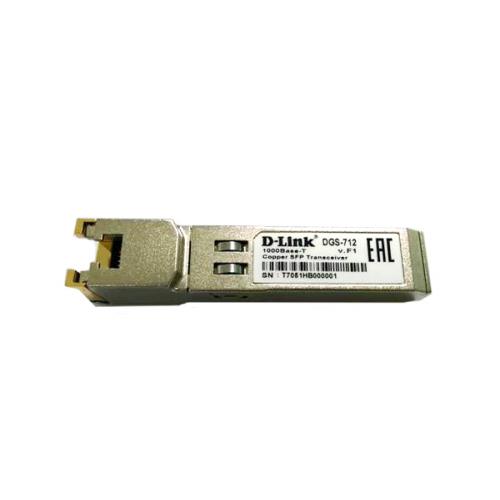 D-Link SFP Transceiver with 1 1000Base-T port.Copper transceiver (up to 100m), 3.3V power.D-LinkCopper transceiver (up to 100m), 3.3V power.
