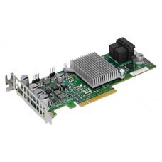 Supermicro AOC-S3108L-H8IR 8 ports, 12Gb/s per port, 8 Internal, LP/FH, 240 SATA/SAS drives, RAID (0/1/5/6/10/50/60) 2GB DDR3 on-card cache/ no cable