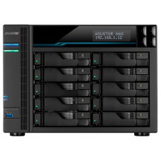 ASUSTOR AS7110T 10-Bay NAS/Media player/Intel Xeon E-2224 3.4GHz up to 4.6GHz(Quad-Core), 8GB SO-DIMM DDR4, noHDD(HDD,SSD),/10x1GbE+3x2,5Gbe(LAN)/3xUSB3.2,HDMI/M.2/4ip camera license ; 90IX01D1-BW3S1 - AS7110T