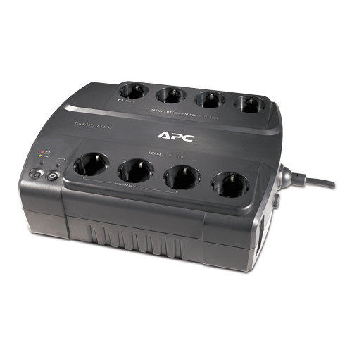 ИБП APC Back-UPS ES 550VA/330W, 230V, 8 Russian outlets (4 Surge & 4 batt.), Data/DSL protection, USB, user repl. batt., 2 y.warr. (renewal BE550-RS) - BE550G-RS