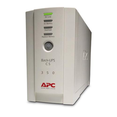 ИБП APC Back-UPS CS 350VA/210W, 230V, 4xC13 outlets (1 Surge & 3 batt.), Data/DSL protection, USB, PCh, user repl. batt., 2 year warranty - BK350EI