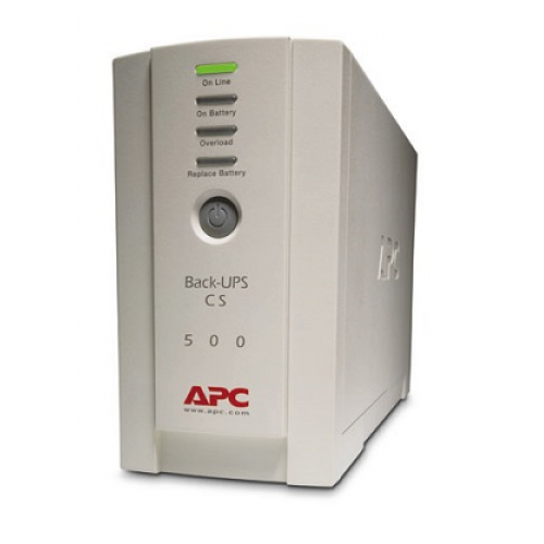 ИБП APC Back-UPS CS 500VA/300W, 230V, 4xC13 outlets (1 Surge & 3 batt.), Data/DSL protection, USB, PCh, user repl. batt., 2 year warranty - BK500EI