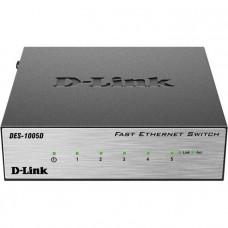 D-Link DES-1005D/O2B, 5-port UTP 10/100Mbps Auto-sensing, Stand-alone, Unmanaged,