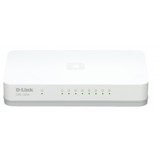 D-Link DGS-1008A/D1A, L2 Unmanaged Switch with 8 10/100/1000Base-T ports.8K Mac address,Auto-sensing, 802.3x Flow Control, Stand-alone, Auto MDI/MDI-X for each port, Plastic case.Manual + External P