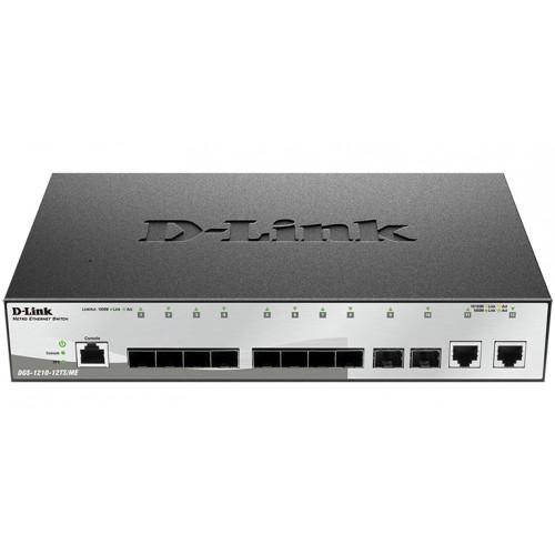 D-Link DGS-1210-12TS/ME/B1A, Managed Gigabit Switch with 10 Ports 1000Base SFP + 2 Ports 10/100/1000Base