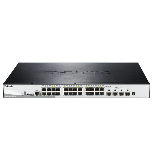 D-Link DGS-1510-52XMP/A1A, 48-Port Gigabit Stackable Smart Managed PoE Switch with 4 10GbE SFP+ ports, 370W PoE Budget
