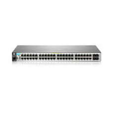 "Aruba 2530 48G PoE+ Switch (48 x 10/100/1000 + 4 x SFP, Managed, L2, virtual stacking, POE+ 382W, 19"")"