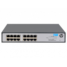 "HPE  1420 16G Switch (16 ports 10/100/1000, unmanaged, fanless, 19"")(repl. for J9560A, J9662A)"