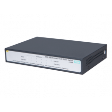 HPE 1420 5G PoE+ (32W) Switch (4 ports 10/100/1000 PoE+ + 1 port 10/100/1000, unmanaged, fanless)