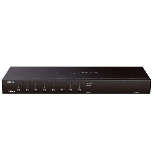 D-Link KVM-440, Stackable rack mount 8-port KVM Switch
