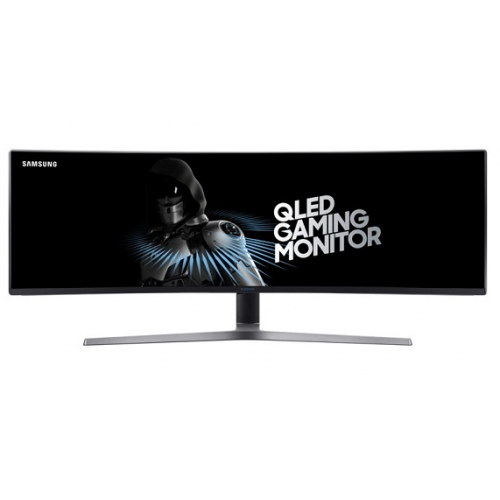 "Samsung 49"" C49HG90DMI VA QLED изогнутый 32:9 3840x1080 1ms 3000:1 350cd 178/178 2*HDMI DP miniDP USB Has Pivot 144Гц Black-Grey"