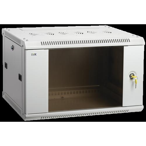 ITK Шкаф LINEA W 12U 600x450 мм дверь стекло, RAL7035 - LWR3-12U64-GF