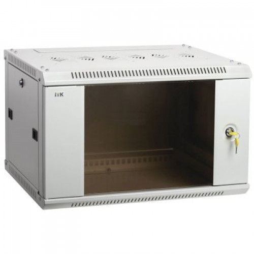 ITK Шкаф LINEA W 12U 600x600 мм дверь стекло, RAL7035
