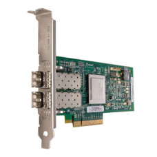 Qlogic QLE2562 8Gb Dual Port FC HBA, x8 PCIe, SR LC multi-mode optic