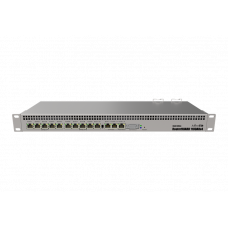 MikroTik RouterBOARD 1100AHx4 Dude Edition with Annapurna Alpine AL21400 Cortex A15 CPU (4-cores, 1.4GHz per core), 1GB RAM, 13xGbit LAN, 60GB M.2 drive, RouterOS L6, 1U rackmount case, Dual PSU