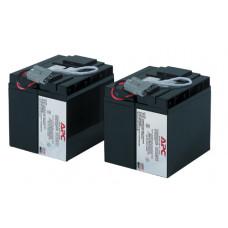 Батареи Battery replacement kit for SU1400RMXLINET, SU2200INET, SU2200I, SU2200RMI, SU2200RMXLI, SU2200XLI, SU3000I, SU3000INET, SU3000RMI, SU24XLBP, SU48XLBP (состоит из 2 батарей) - RBC11