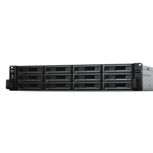 Synology Rack 2U QC2,1GhzCPU/4Gb(up to 64)/RAID0,1,10,5,6/up to 12hot plug HDDs SATA(3,5' or 2,5')(up to 24 with RX1217)/2xUSB/4GigEth(+1Expslot)/iSCSI/2xIPcam(up to 40)/1xPS/no rail
