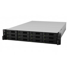 Synology (Rack2U) QC2,4Ghz/8Gb(64)/RAID0,1,10,5,6/up to12HP HDDs SATA(3,5'or2,5')up to 36 with 2xRX1217RP/2xUSB/4GigEth(2x10Gb opt)/iSCSI/2xIPcam(up to 75)/2xRPS/no rail/5YW
