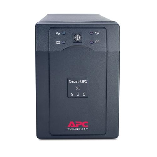 ИБП Smart-UPS 620VA/390W, 230V, Line-Interactive, Data line surge protection, Hot Swap User Replaceable Batteries, PowerChute - SC620I