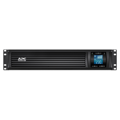 ИБП APC Smart-UPS C 1000VA/600W 2U RackMount, 230V, Line-Interactive, Out: 220-240V 4xC13, LCD, Gray, 1 year warranty, No CD/cables - SMC1000I-2URS
