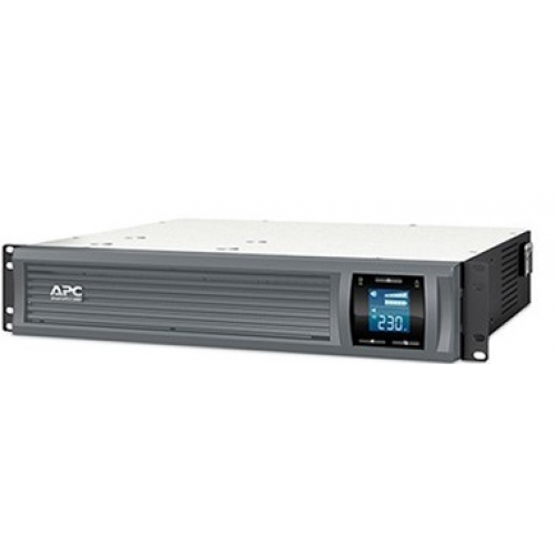 ИБП APC Smart-UPS C 2000VA/1300W 2U RackMount, 230V, Line-Interactive, Out: 220-240V 6xC13, LCD, Gray, 1 year warranty, No CD/cables - SMC2000I-2URS
