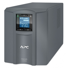 ИБП APC Smart-UPS C 2000VA/1300W, 230V, Line-Interactive, Out: 220-240V 6xC13/1xC19, LCD, Gray, 1 year warranty, No CD/cables - SMC2000I-RS